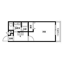 アムール Kuragano[2階]の間取り
