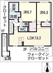 ファルツ宿跡[2階]の間取り