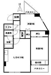 愛知県名古屋市昭和区紅梅町2丁目の賃貸マンションの間取り