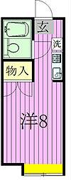 サンポップ新松戸[208号室]の間取り