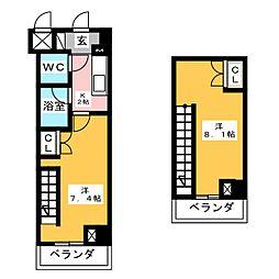 HF愛宕橋レジデンス[12階]の間取り