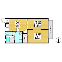パル・シオガワ B棟[2階]の間取り