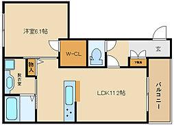 シャーメゾン高井田[1階]の間取り