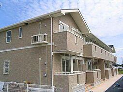 群馬県高崎市小八木町の賃貸アパートの外観