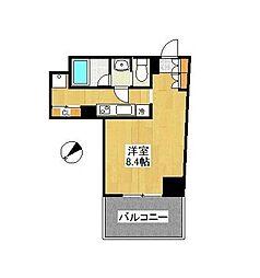 LEON-A[401号室]の間取り
