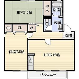 EAST NONAMI 弐番館[2階]の間取り