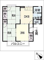 コートビレッジさと A棟[2階]の間取り