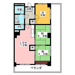 清水マンション[8階]の間取り
