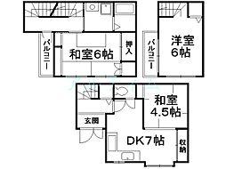 [一戸建] 京都府京都市南区久世築山町 の賃貸【/】の間取り
