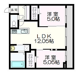 シャトーライフ新札幌1[2階]の間取り
