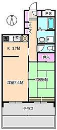 グレートフューチャーパートII 101[1階]の間取り