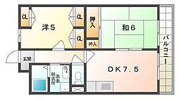 メゾン・ド・フルール[4階]の間取り