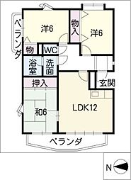 グランパス21[3階]の間取り