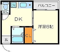 レジデンス大和II[4階]の間取り