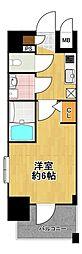 エスリード大阪ドームシティ 2階1Kの間取り