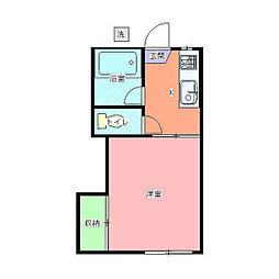 荒井第一アパート[105号室]の間取り