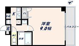 グランデージ長田東[9階]の間取り