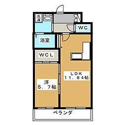 仮称 清水様共同住宅[1階]の間取り