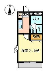 WlN63[205号室]の間取り