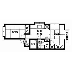 ピナクルセブン[201号室]の間取り