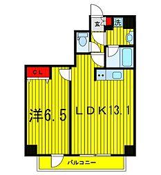 東京都台東区千束4丁目の賃貸マンションの間取り
