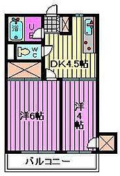 サンハイツ福田[302号室]の間取り