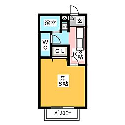サン・friends郷南[2階]の間取り