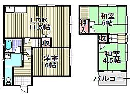 [テラスハウス] 大阪府泉南市信達市場 の賃貸【/】の間取り