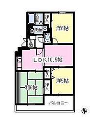 プラザ・東太田[1階]の間取り