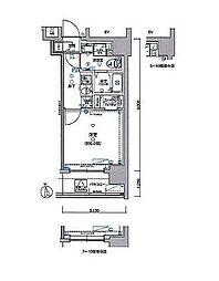 グランリーヴェル横濱南ADELE 6階1Kの間取り