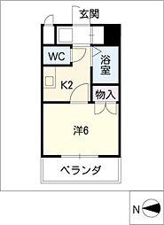 セジュール栄[6階]の間取り