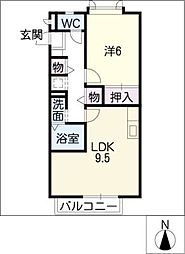 プランドール・M[2階]の間取り