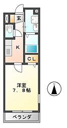 フェリスウラタ[2階]の間取り