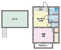 ベルガーデン[1階]の間取り
