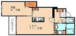 クレメント Ⅰ[1階]の間取り