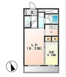 X-OVER21覚王山[5階]の間取り
