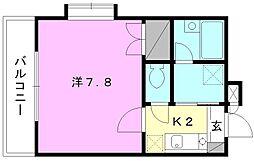 湯築ロジュマン2[201 号室号室]の間取り