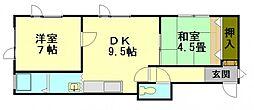 北海道小樽市稲穂5丁目の賃貸アパートの間取り