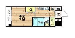 ルミエール野田阪神[6階]の間取り