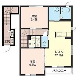 ピースクレール[2階]の間取り