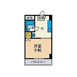 TYG第5ホエールズマンション[5階]の間取り