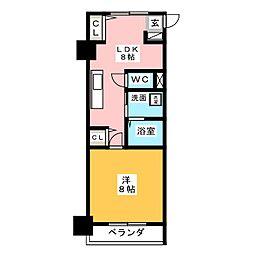 アルファレガロ西古松[6階]の間取り