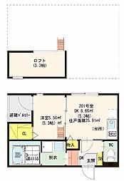 仮)ハーモニーテラス・東大阪瓜生堂2丁目・SKHコーポ[2階]の間取り