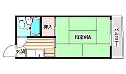 野田ハイツ[4階]の間取り