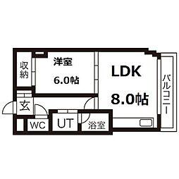 札幌ダイカンプラザ[9階]の間取り