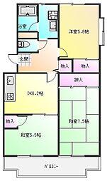 桐朋ハイツ[3階]の間取り