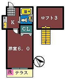 クレール津田沼1[103号室]の間取り