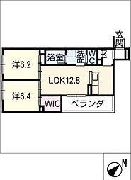 仮)シャーメゾン豊田市吉原町 2階2SLDKの間取り