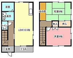[テラスハウス] 静岡県浜松市中区領家1丁目 の賃貸【静岡県 / 浜松市中区】の間取り