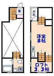 [テラスハウス] 千葉県市川市福栄1丁目 の賃貸【/】の間取り